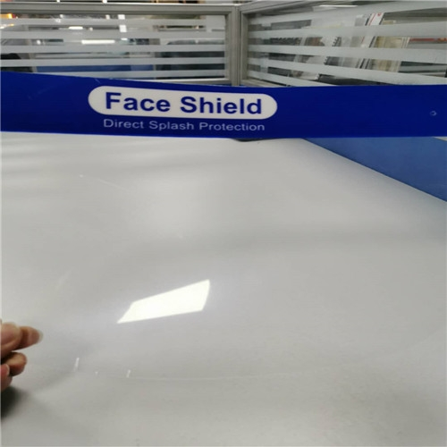 0.25mm transparent anti fog film roll PET for face shield