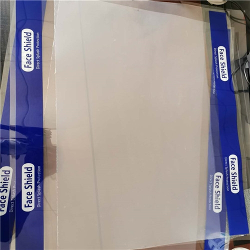 Transparent PET plastic sheet roll for face shield