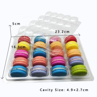 20 pcs macaron plastic clamshell packaging