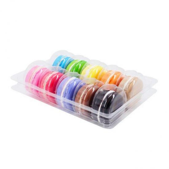10 pcs macaron clamshell packaging