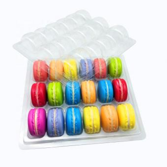 18 pcs macarons blister trays with lid
